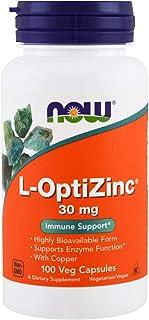 Now Foods L-OptiZinc, 30mg, Veg Capsules, 100ct