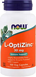 Now Supplements, L-OptiZinc 30 mg with Copper, 100 Veg Capsules