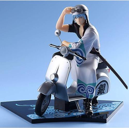 ZDNALS Gintama Anime Statue Moto et Putian argent Time Modèle Anime, Jouet décoratif pour Bureau à Domicile - 16CM La Statue
