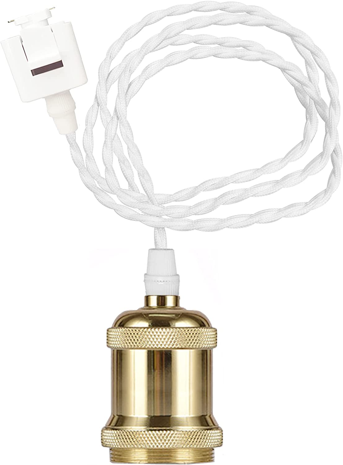 STGLIGHTING Max Superior 84% OFF J-Type Track Pendant Light Rope White Cord Gol Weave