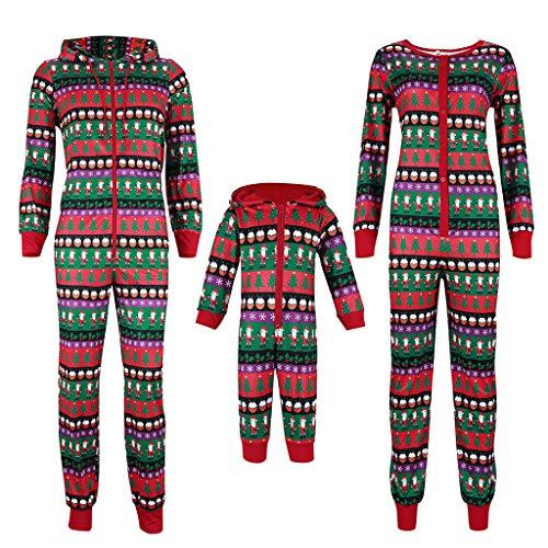 Kerstmis Familie Bijpassende Hooded Romper Pyjama Pj Sets Vrolijke Kerst Jumpsuit Warm Katoen Slaapmode Outfits Set Pyjama Lange Mouw Santa Claus Nachtjassen Pjs Loungewear Papa Moeder Kids