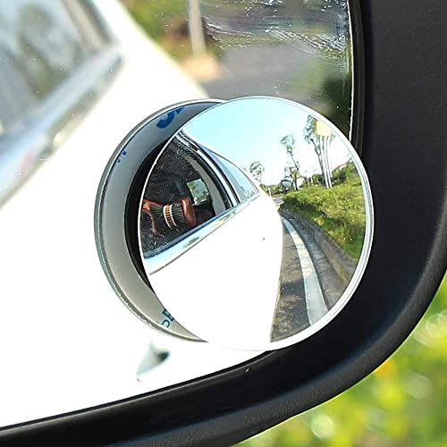 "CarFrill Blind Spot Mirror, 2"" Round HD Glass Frameless Convex Rear View Mirror, Pack of 2"