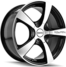 Touren TR9 16 Machined Black Wheel / Rim 5x5 with a 40mm Offset and a 72.62 Hub Bore. Partnumber 3190-6773M
