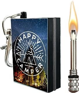 OPG3 Emergency Camping Fire Starter Permanent Match, Waterproof Firestarter Set, Flint Steel Keychain Kit, Forever Match Camp Equipment Survival Gear