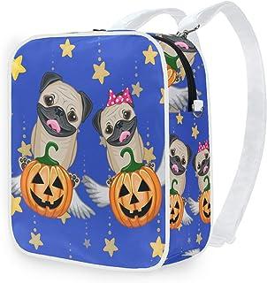 DEZIRO Bolsa de hombro Halloween perros con calabazas mochila escolar