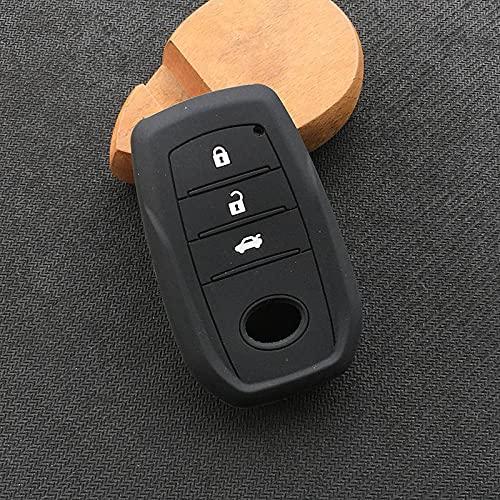 ZYHYCH Protector de Carcasa de Goma de Silicona para Llave, Apto para Toyota Chr Rav4 Auris Avensis Prius Aygo Camry Land Cruiser 200 Prado Crown