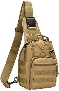 COOLEAD Mochila Militar Hombre Triangular Crossbody Bandolera Táctica Impermeable Portátil Bolso Pecho Durable Tela Oxford...