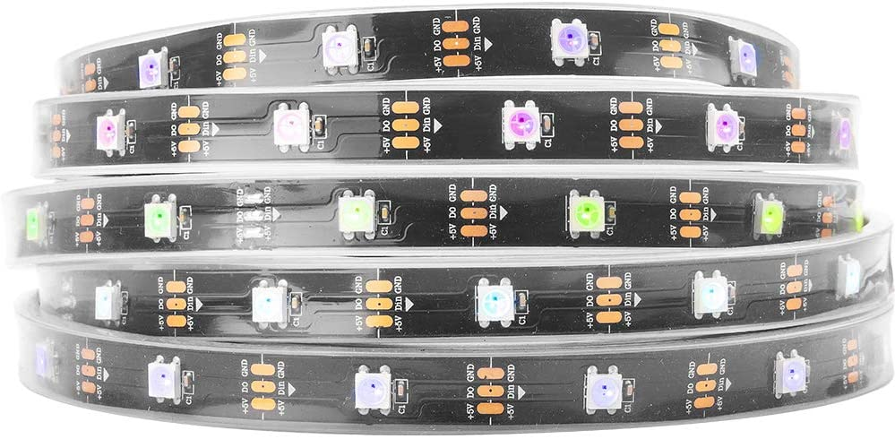 2x50 BTF-LIGHTING WS2812B RGB 5050SMD Individual Addressable 3.3FT 100 etc Only DC5V LED Wall Pixels//m Flexible White PCB Full Color LED Pixel Strip Dream Color IP65 Waterproof Making LED Screen