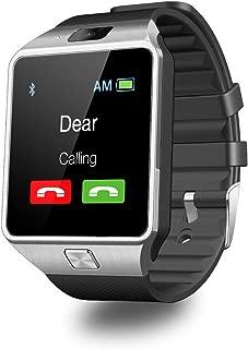 SmartWatch DZ09, Ailina Bluetooth Smart Watch Cep telefonu kamera SIM TF kart yuvası ile uyumlu tüm Android akıllı telefonlar Gümüş