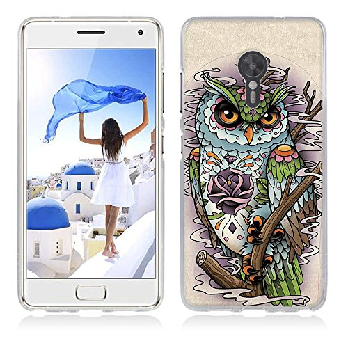 FUBAODA für Lenovo ZUK Z2 Pro Hülle, Cartoon Owl Tigger Lion Künstlerische Malerei-Reihe TPU Case Schutzhülle Silikon Case für Lenovo ZUK Z2 Pro