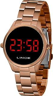 Relógio Lince Feminino Digital Led Mdr4618l Vxrx Rose