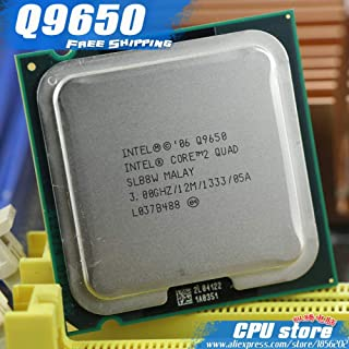 Intel Core 2 Quad Q9650 CPU Processor (3.0Ghz/ 12M /1333GHz) Socket 775 Desktop CPU (Working 100%, Sell Q9550