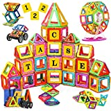 SVOC Magnetic Blocks, 122 PCS Magnetic Tiles for Boys and Girls, Magnetic...