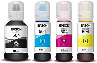 Kit 4 Tintas para Impressora Epson Bulk Ink T504 CMKY 70ml