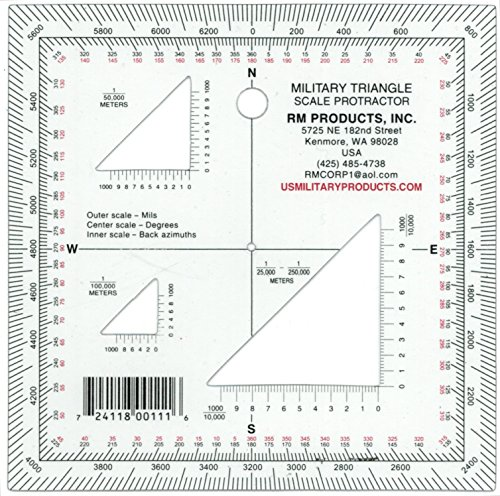 RM PRODUCTS Military Triangle Protractor