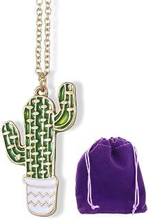 قلادة الصبار | مجوهرات كاستي سحر أشياء هدايا للنساء المراهقات الرجال أريزونا قلادة الصبار ديكور نضر