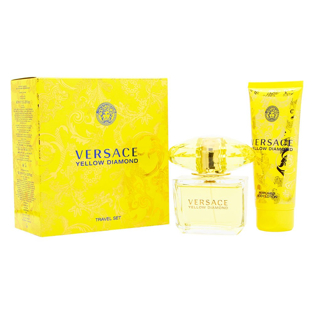 Versace Yellow Max 58% OFF Diamond 2 Piece Gift Set For Eau shopping Women De Toilet