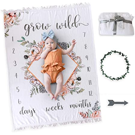 Max Mountains Monthly Milestone Blanket Baby Girl Milestone Blanket Newborn Photo Prop Milestone Blanket Baby Girl Adventure Awaits
