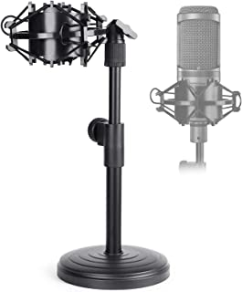 Desktop Microphone Stand, Adjustable Table Mic Stand with...