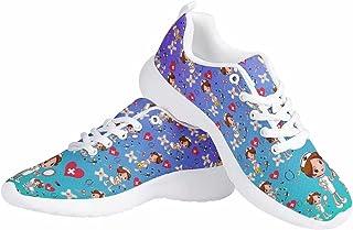 chaqlin Baskets à enfiler pour femme - Chaussures de sport en maille - Chaussures de course décontractées pour le travail,...