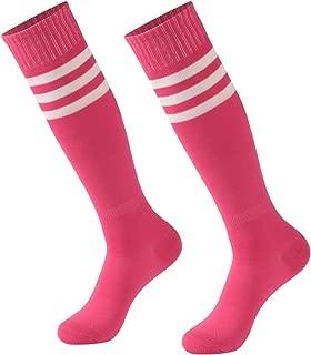 Striped Tube Socks, Calbom Unisex Knee High Soccer Football Volleyball Baseball Cheerleading Team Socks 2/6/10 Pairs