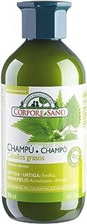 شامبو كورب سانو نيتل، ويتش هازل والليمون - خالٍ من البارابين - عضوي معتمد - لا يسبب الحساسية - شعر دهني - 300 مل/10.1 أونص...