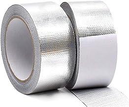 Tingz 2 rollen Aluminium tape 45mm×25m zelfklevende aluminium tape aluminium plakband voor afdichten of isolatie zachte al...