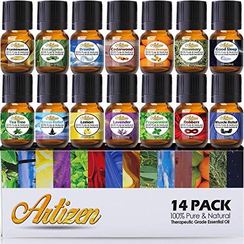 Artizen Top 14 Essential Oil Set (100% Pure & Natural)...