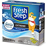Fresh Step Extreme Scented Litter with The Power of Febreze, Clumping Cat Litter – Mountain Spring, 14 lb,...