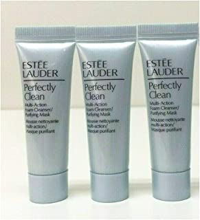 Lot Of 3 Estee Lauder Perfectly Clean Multi-Action Foam Cleanser 0.24.oz/ 7ml Each