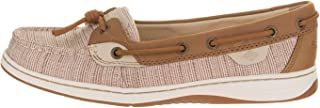 SPERRY Womens Dunefish Canvas Closed Toe Boat Shoes, Crosshatch Taupe, Size 10.0