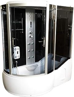 Bañera de esquina 170 x 90 cm h 220cm Ducha Cabina