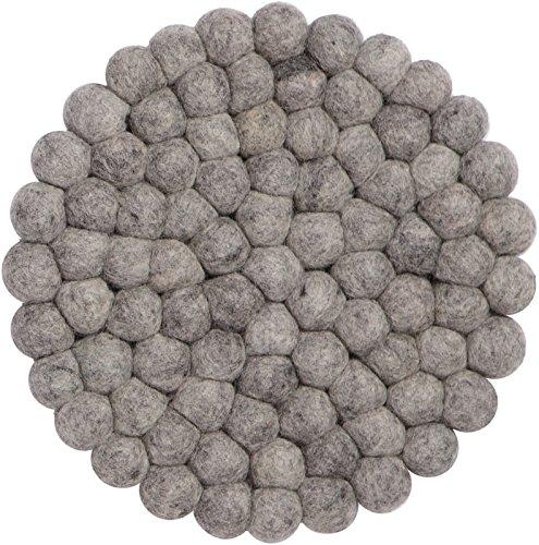 myfelt Filzkugel Topfuntersetzer - Carl - 20 cm, grau