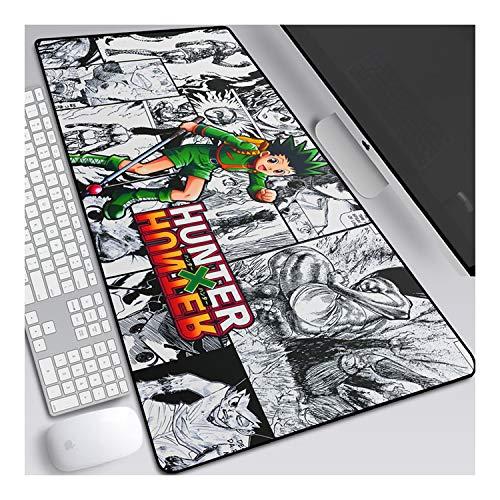 Hunter 900x400mm Tapis de Souris XXL Multifonction Gaming Mousepad XXL Grand sous Main, Anime Souris 3mm Bureau Anti-Glissant Surface Texturée pour Ordinateur, D