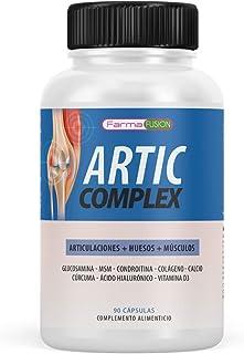 Cúrcuma. Glucosamina. Condroitina y Colágeno | Elimina el dolor en músculos. articulaciones y huesos | Potente antiinflamatorio con acción analgésica | Repara las articulaciones | 90 cápsulas