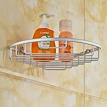 Yxsd Wandbeugel voor badkamerhoek, badkamerplank, muurbeugel met schroeven, stevige aluminium planken, 1 rij driehoekige s...