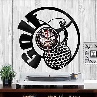 CVG Creativo 3D Retro Reloj de Pared Golf Club Decoración de Pared Personalidad Reloj de Pared Marca de Registro de Vinilo Dial Vision Relojes de Pared Regalo