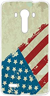 スマホケース ハードケース LG isai vivid LGV32 用 [星条旗・グリーン] ビンテージ 星柄 国旗 アメリカ エルジー イサイ ビビッド au スマホカバー 携帯ケース 携帯カバー usa_00r_h164@02