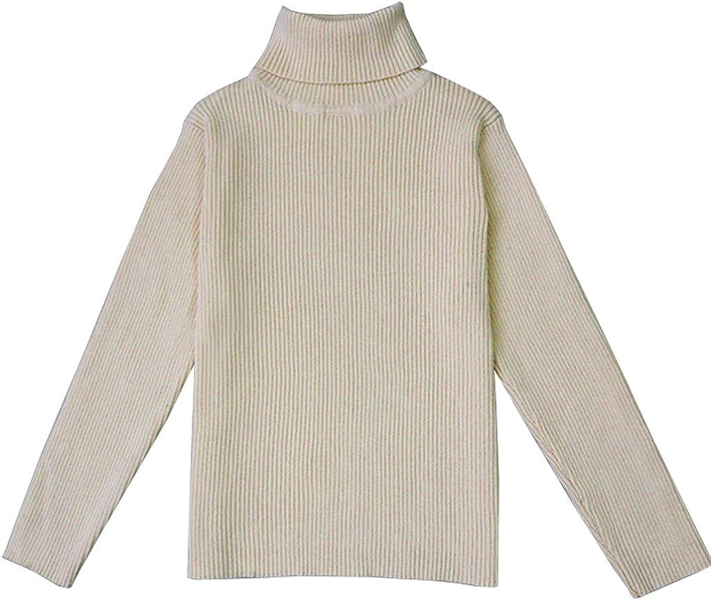 VduanMo Little Girls /& Boys Solid Turtleneck Cotton Sweater Coats 1-5T