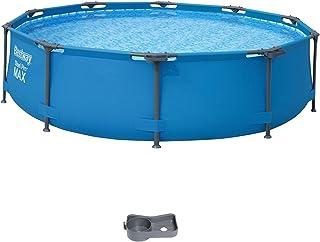 Bestway Steel Pro MAX Framepool ohne Pumpe, rund, 305 x 76 cm Piscina, Azul