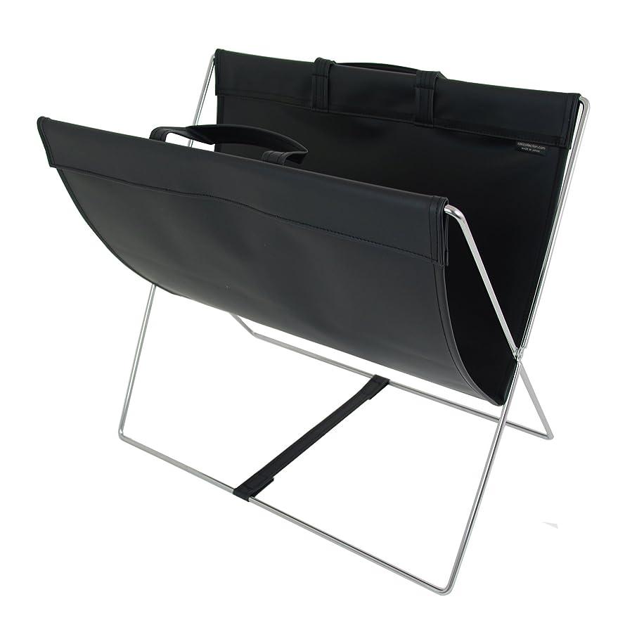 黙認する摂動藤色サキ 手荷物入れ セルフワゴン レザー調 PVC ブラック R-357BK