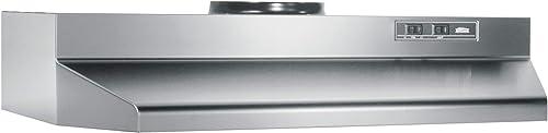 Broan-NuTone 423004 Under Cabinet Range Hood, 30-Inch, Stainless