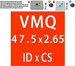 75 x 70 x 2,5 mm 34//35//38//40//42//44//45//48~90 mm Unterlegscheibe f/ür Silicon-Oring-Dichtung,2,5 mm Wei/ßer Gummiring Silikon//VMQ O-Ring Dichtungen 2,5 mm Dicke OD32