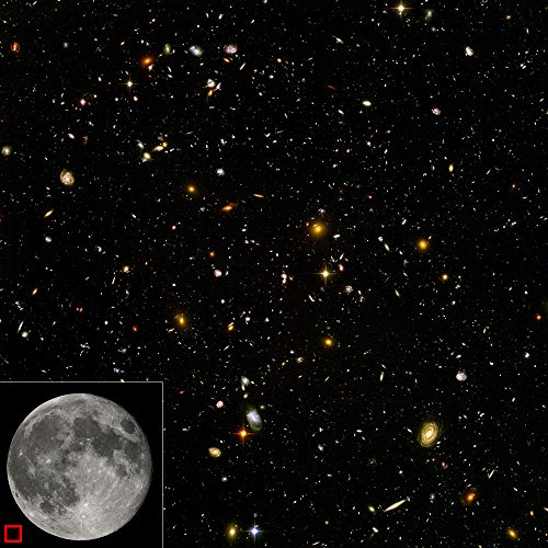 Spiffing Prints Hubble Telescope - Ultra Deep Field - Extra Large - Archival Matte - Black Frame