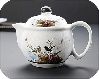 Ceramic Large Teapot Single Pot Blue and White Porcelain Snowflake Glaze Water Bottle Filter Household Tea Set,B