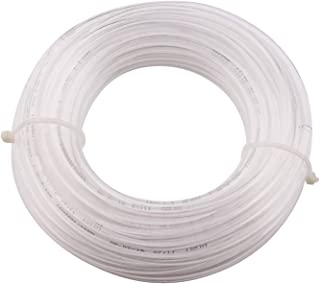 Sydien 20Meters//65.6Ft PU Air Hose Pipe 4mm OD,2.5mm ID with 4Pcs Quick Connector for Air Line Fluid Transfer Pneumatic Equippement