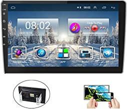 Hikity 10.1 Inch Android Car Stereo with GPS Double Din Car Radio Bluetooth FM AM RDS Radio Support WiFi Connect Mirror Li...