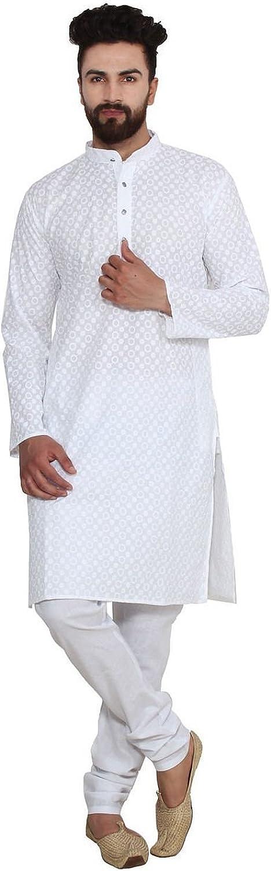 Royal Men's Designer Chicken Our shop most popular discount Kurta Pyjama Churidaar Cotton