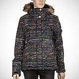 Roxy Snowboard Jacke Jet Ski Jacket - Chaqueta técnica para mujer, XS, Cross The Line_Anthracite