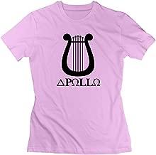 Women's Apollo Lyre Symbol Music Greek Mythology Gods Pink Funny Tshirt